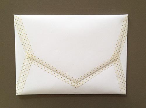 Оригами конверт с сюрпризом-конверт заклеен