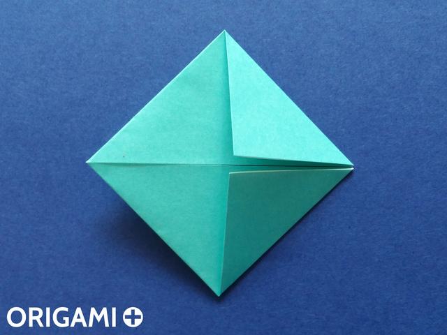 Оригами рибка-загните углы