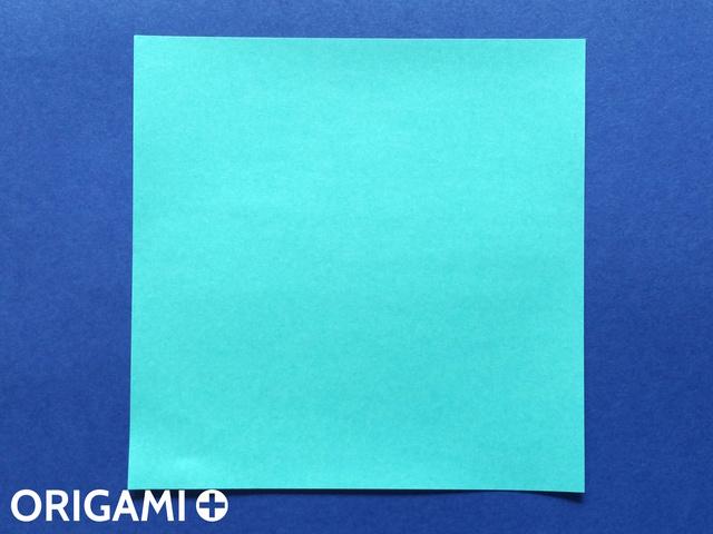 Оригами рибка-вырежьте квадрат