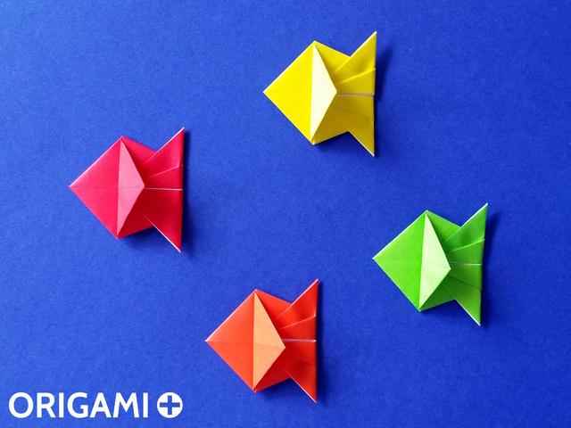 Оригами рибка своими руками