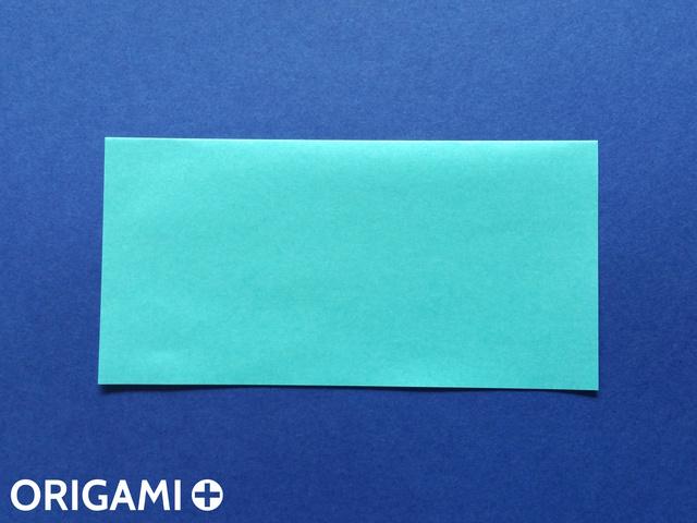 Оригами рибка-разрежьте квадрат пополам
