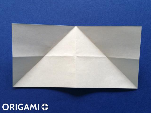 Оригами рибка-разверните углы