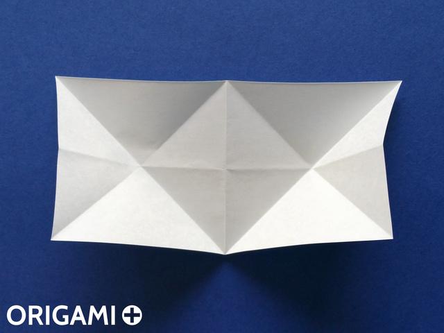 Оригами рибка-разверните складки