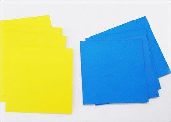 Оригами звезда ниндзя-нарежьте квадраты
