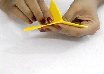 Оригами звезда ниндзя-заверните уголок вниз