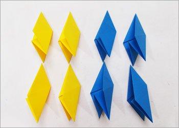 Оригами звезда ниндзя-сделайте 8 блоков