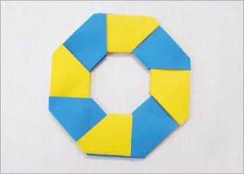 Оригами звезда ниндзя-круг готов