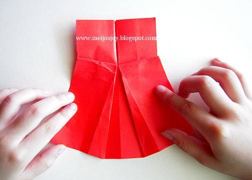 Платье оригами-сформуйте юбку