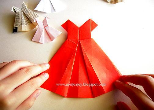 Платье оригами своими руками