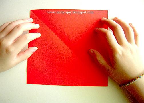 Платье оригами-вырежьте квадрат