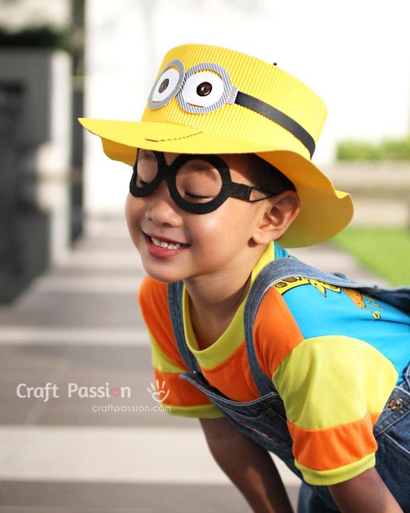 Бумажная шляпа и очки своими руками