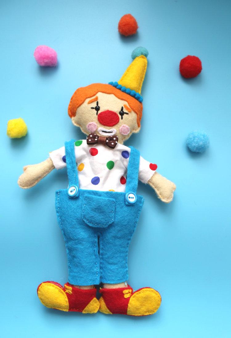 Клоун из фетра своими руками