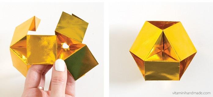 Оригами кристалл из модулей-соберите шар