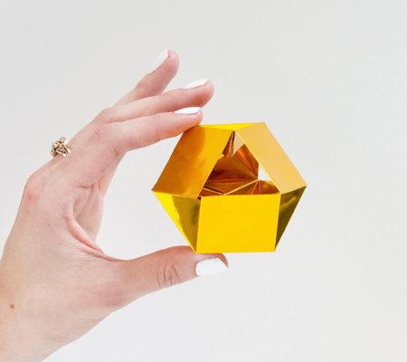 Как сделать кристалл оригами