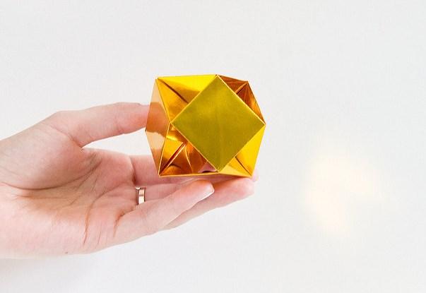 Как сделать из бумаги кристаллики 947