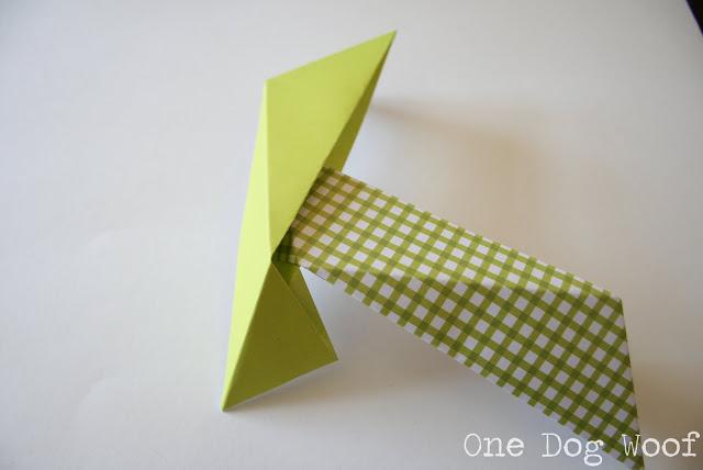Шар оригами-вставьте один модуль в другой