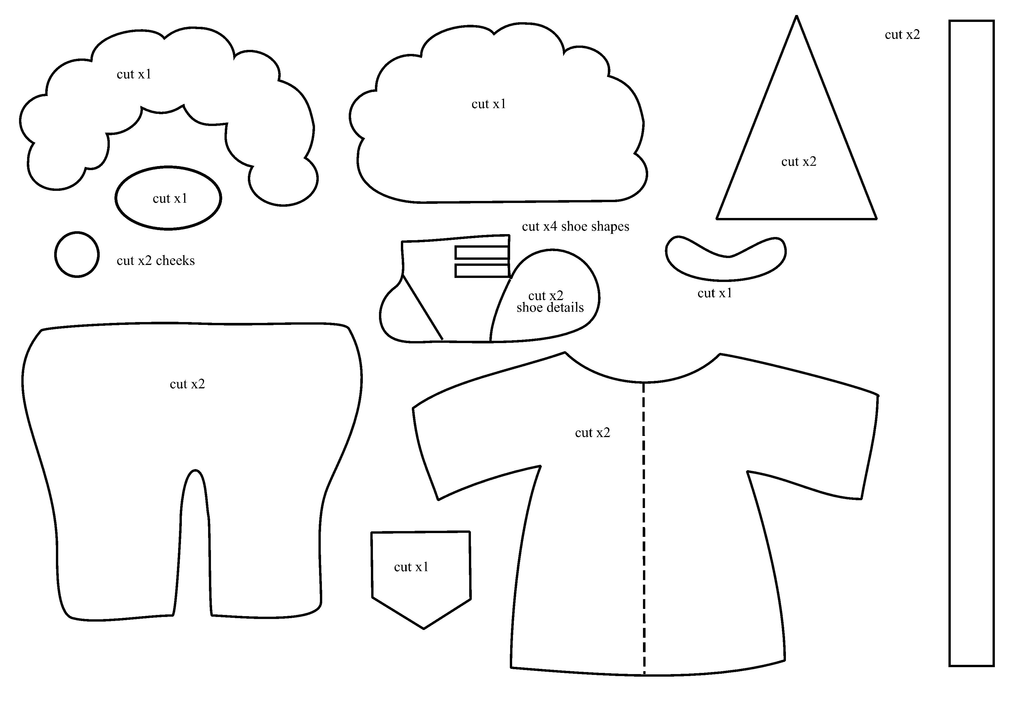 Выкройка клоуна - одежда
