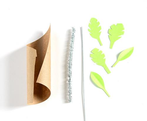 Домик из бумаги-детали для пальмы