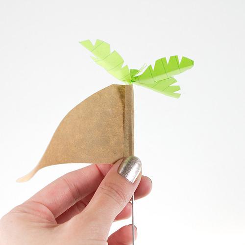 Домик из бумаги-зафиксируйте поделку