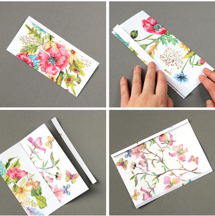 Кошелек из бумаги-обрежьте лишнее