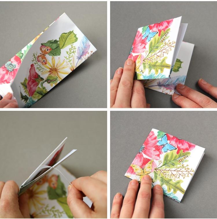 Кошелек из бумаги-сделайте базу