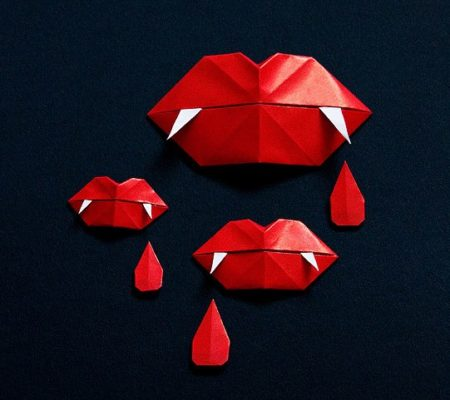 Как сделать оригами клыки