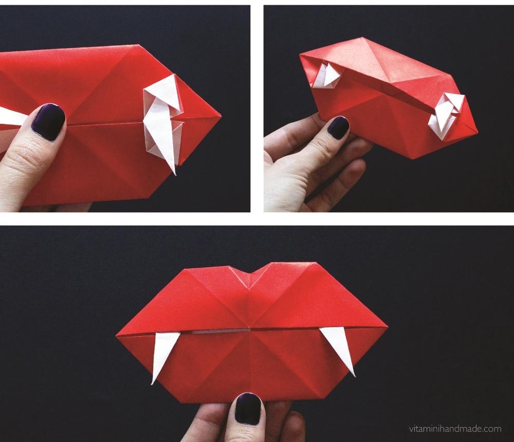 Оригами губы-спрячьте складки