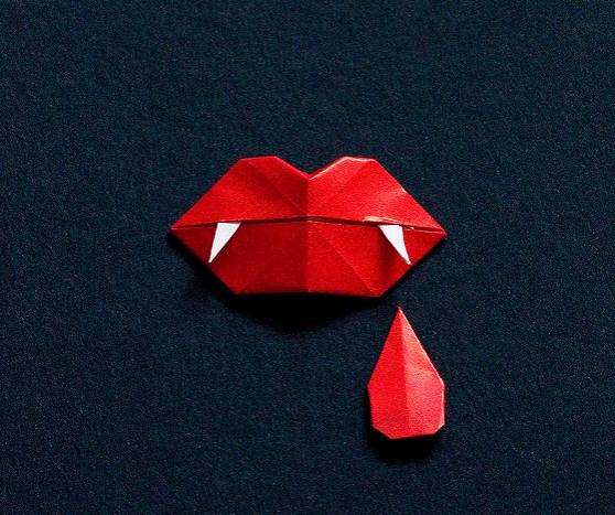 Оригами губы своими руками
