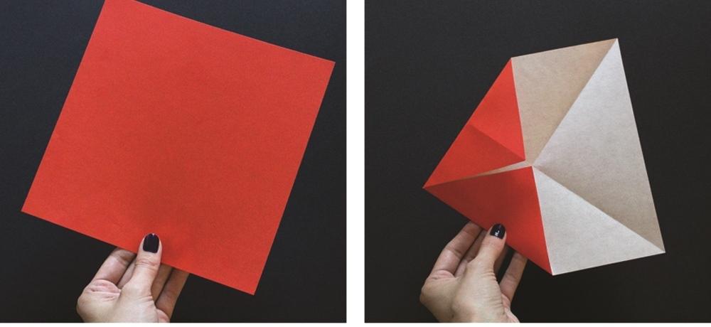 Оригами губы-сложите углы