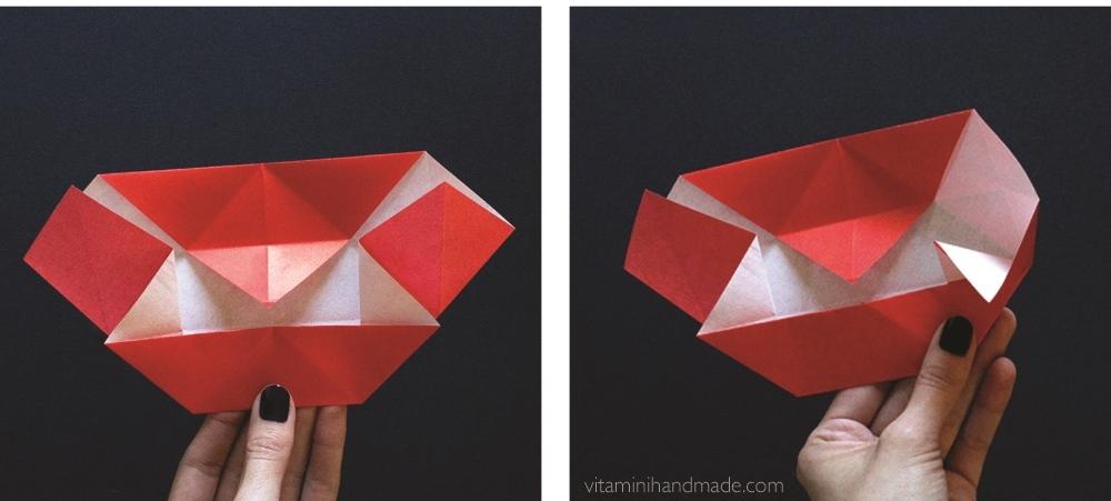 Оригами губы-откройте закрылки