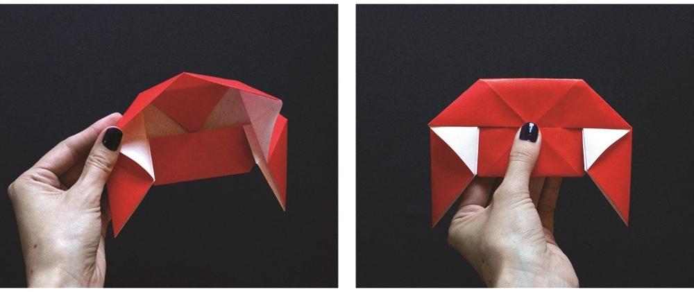 Оригами губы-опустите уголки вниз
