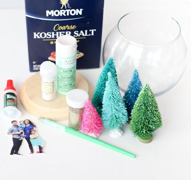 Снежный шар-подготовьте все материалы для сборки