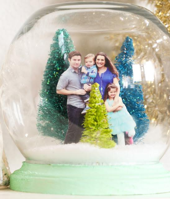 Снежный шар с семейным портретом своими руками