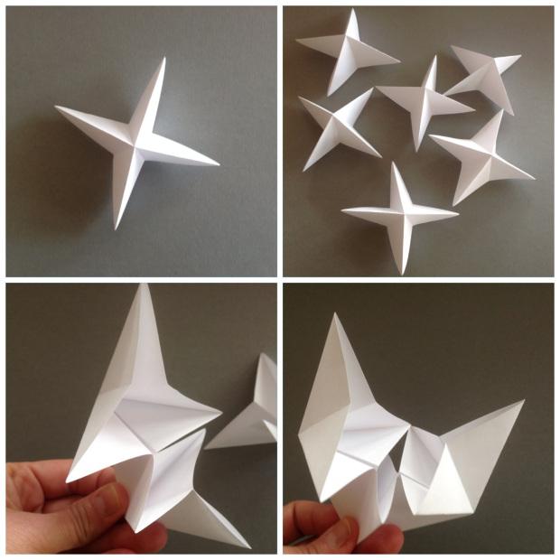 Вертушка из бумаги-сделайте звезды