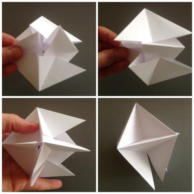 Вертушка из бумаги-вставьте звезды друг в друга