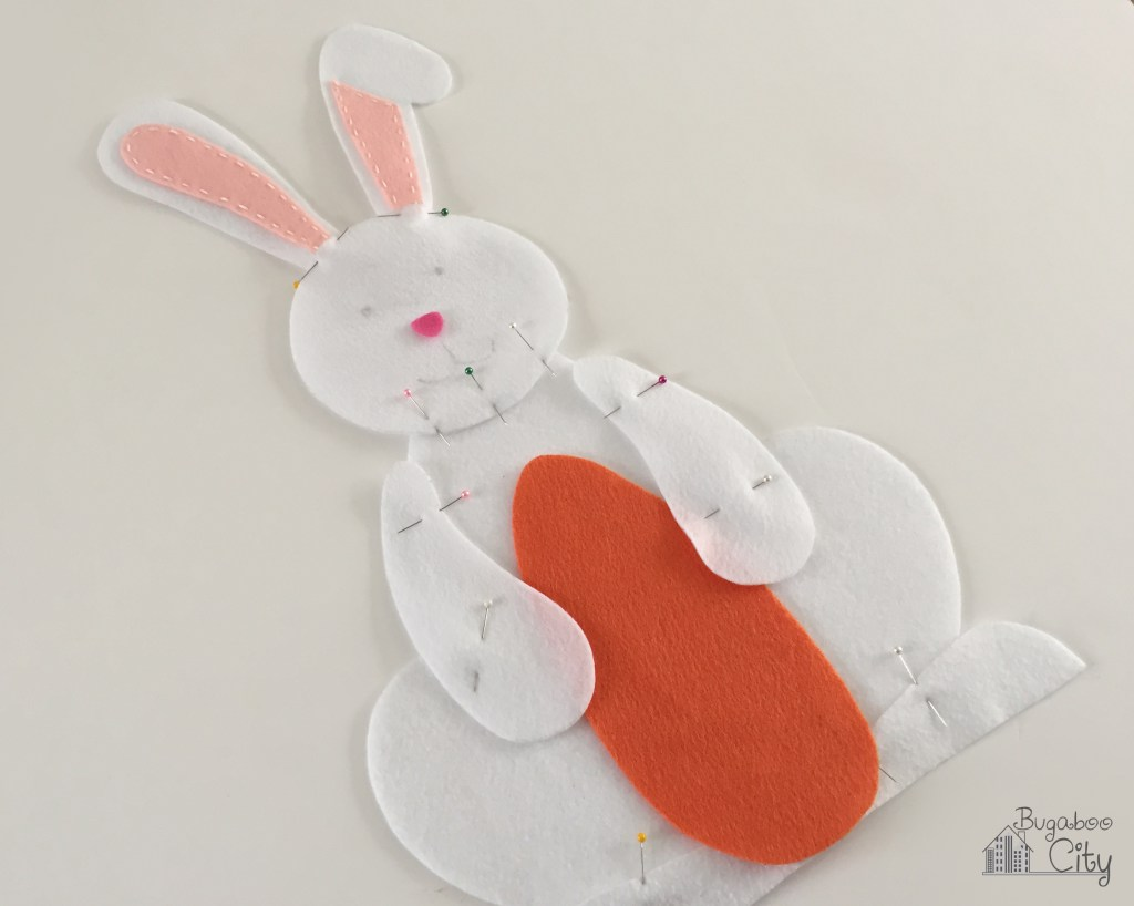 Заяц из фетра-соберите тело