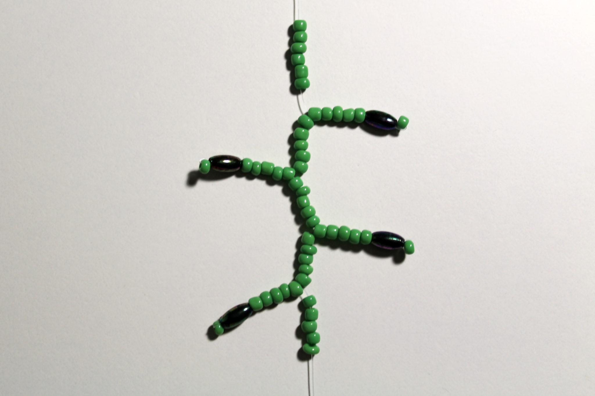 декоративные ветки из бисера