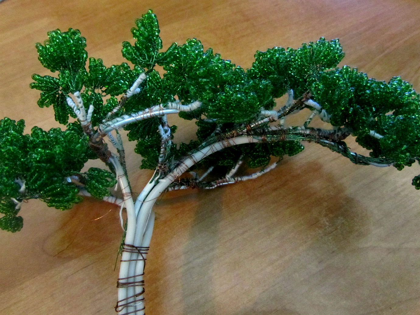 Бонсай из бисера - сборка дерева 1