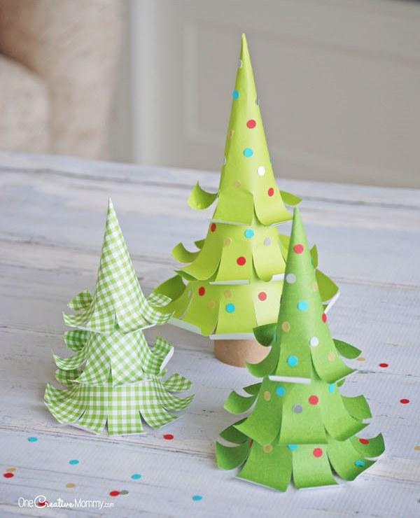 Бумажная елка-3 штуки