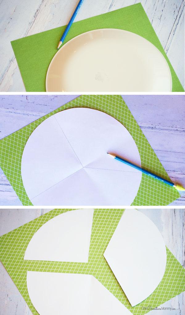 Бумажная елка-вырежьте детали