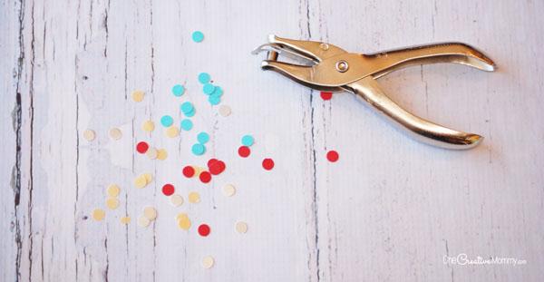 Бумажная елка-сделайте конфетти