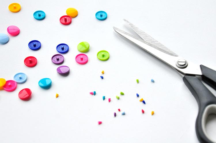 Коробочка для сладостей-обрежьте кнопки