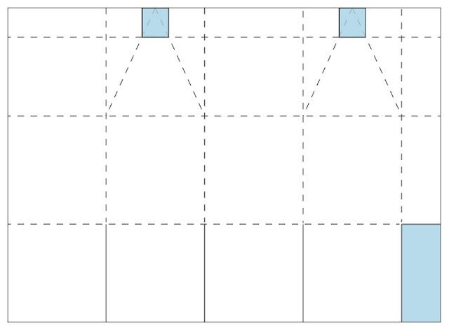 Коробочка для сладостей-шаблон для домика