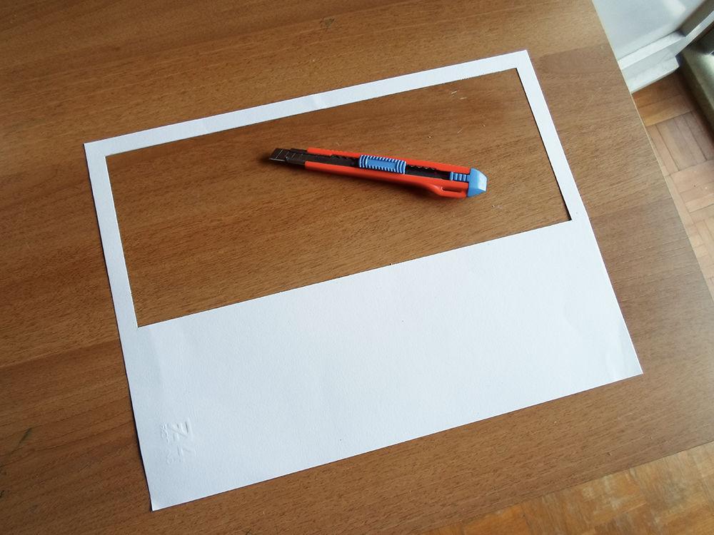 Новогодняя картина из бумаги-вырезанный 3 шаблон