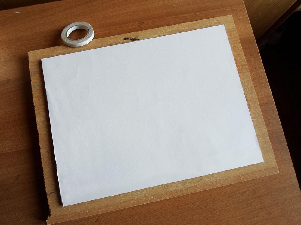 Новогодняя картина из бумаги-закройте картон листом бумаги