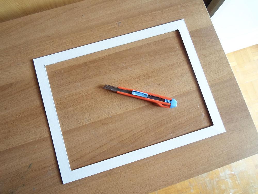 Новогодняя картина из бумаги-вырежьте фронтальную рамку