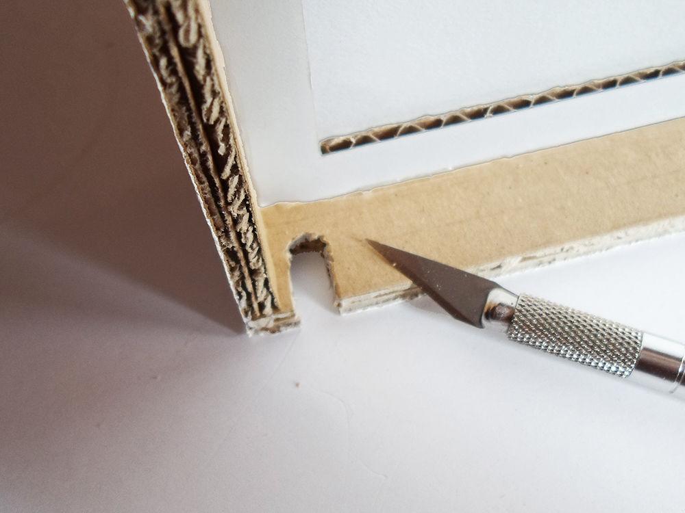 Новогодняя картина из бумаги-сделайте надсечку в рамке