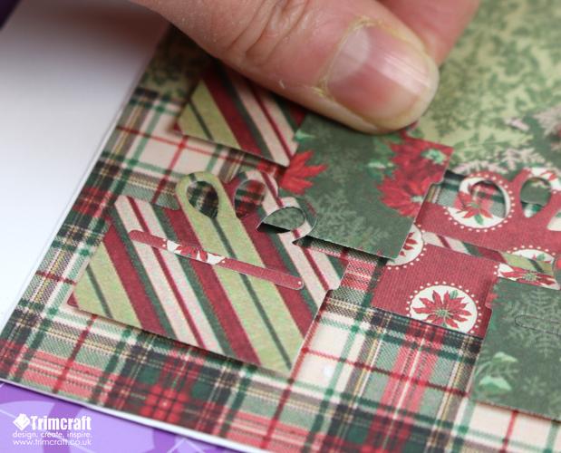 Новогодняя открытка-прикрепите подарки