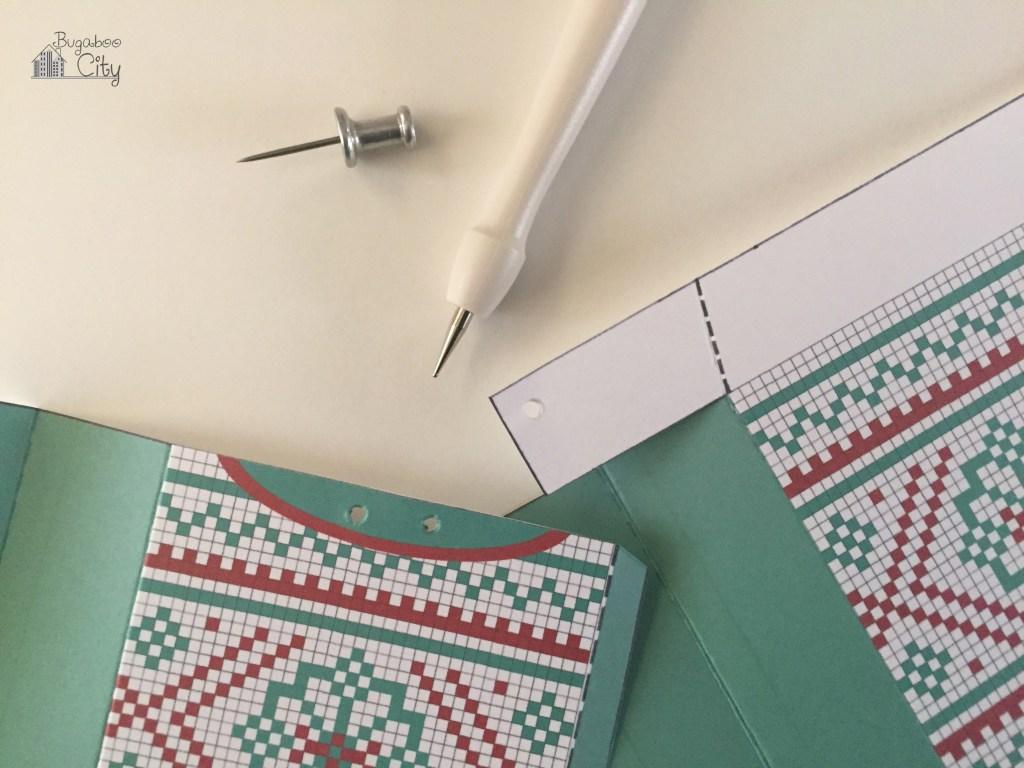 Новогодняя подарочная упаковка-сделайте отверстия