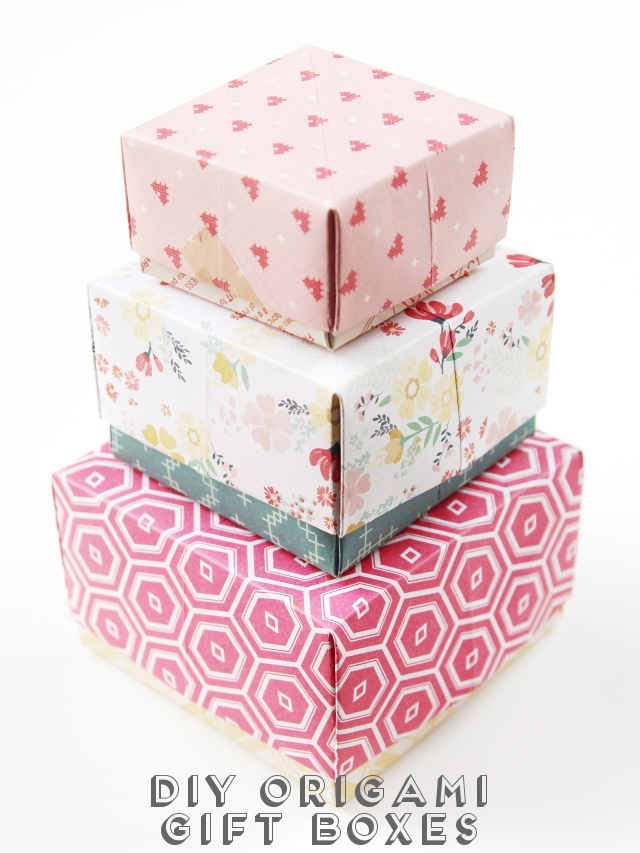 Оригами коробочка для подарка своими руками